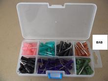 140 peças sortidas 1/2 polegadas luer lock end s.s. Dicas de distribuição de agulhas