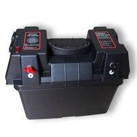 Многофункциональный база Батарея коробка Питание с вольтметр 2 Dual USB отверстие Зарядное устройство для автомобиля морской Лодка на колесах