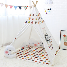 Cartoon Toy Tent for Kids Wigwam Children Play House Indoor Outdoor Tipi Game Teepee Child Room Decor 4 Poles Photography Photo