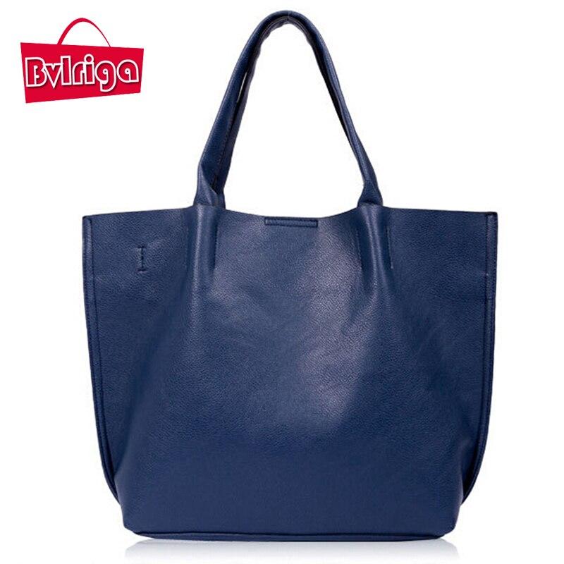 BVLRIGA Mujeres bolsos de cuero del diseñador gran bolsa de la compra bolsa de h