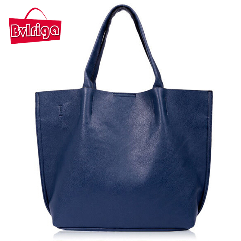 BVLRIGA Women leather handbags designer big shopping bag high quality shoulder b