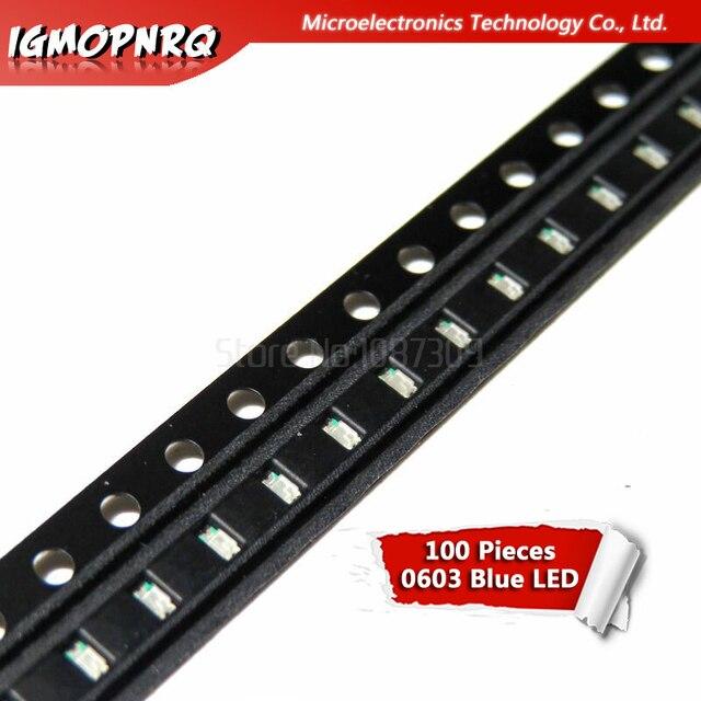 100pcs Blue 0603 SMD LED diodes light