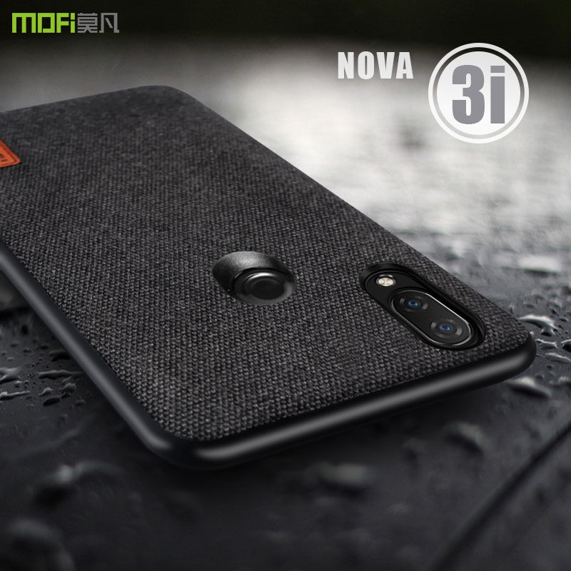 for huawei nova 3i case cover MOFI nova 3i fabric Case for huawei nova 3 Back Cover Case nova3i soft edge full Cover Case 6.3''