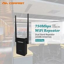 Dual Band 2.4 г + 5 ГГц сети Wi-Fi маршрутизатор WI-FI повторителя Усилители домашние Беспроводной LAN Client мост Extender 750 Мбит/с усилитель, EU/US plug