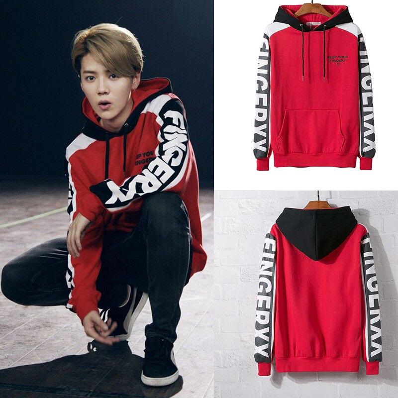 Kpop EXO Luhan Jacket Hoodie Unisex  Pullover Sweatshirt Coat Outwear Unisex  Men Women