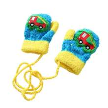 NZ140 Newborn Mittens Cute Cartoon Thicken Infant