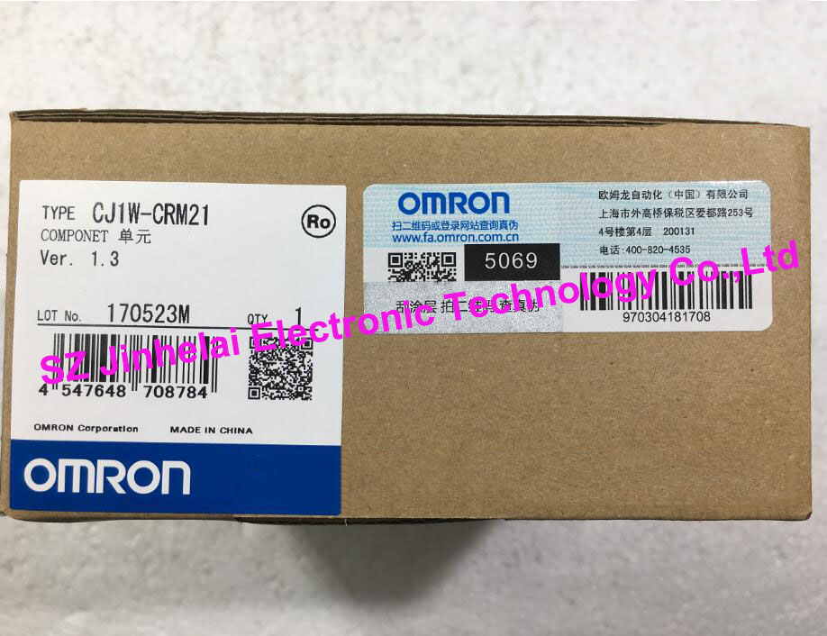 New and original  CJ1W-CRM21  OMRON  PLC  COMPONET UNIT new and original e3x da11 s omron optical fiber amplifier photoelectric switch 12 24vdc