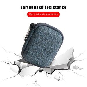 Image 5 - Жесткий мини чехол IKSNAIL EVA на молнии для наушников, кожаный чехол для наушников BlueBuds, Bluetooth сумка для наушников, зарядное устройство, Органайзер