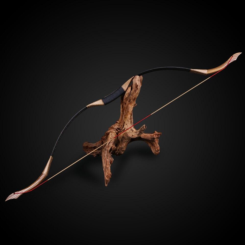 30-50lbs tir à l'arc pur fait à la main arc classique traditionnel longbow en bois chasse cible tir stratifié nouveaux jeux de plein air