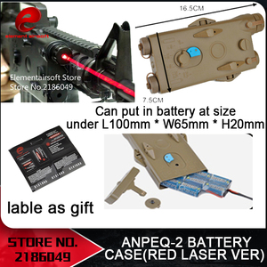 Element Airsoft AN/PEQ-2 Battery Case Red laser Version No function PEQ box EX426(China)