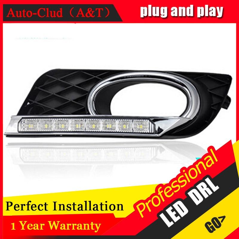 ФОТО AUTO PRO DRL For Honda Civic LED daytime running light For Honda Civic 2012-14 guide LED DRL car styling Fog lamp parking light