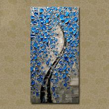2016 Home Decor Hot Sale Picture Fortune Tree Oil Painting Wall Art Handpainted Modern On Canvas Palette Knife free shipping