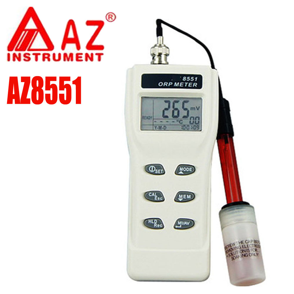 AZ8551 ORP Meter water quality tester ORP Redox meter tester high precision PH tester with PH range 0 ~ 14PH 4 8 days arrival lb92t portable sweetness tester brix meter with measuring range 58 92