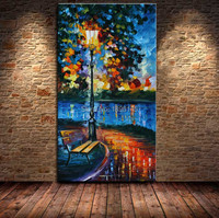 BA Oil Painting 100 Handmade Landscape Knife Art Painting Modern Wall Painting Street View Wholesale Cheap