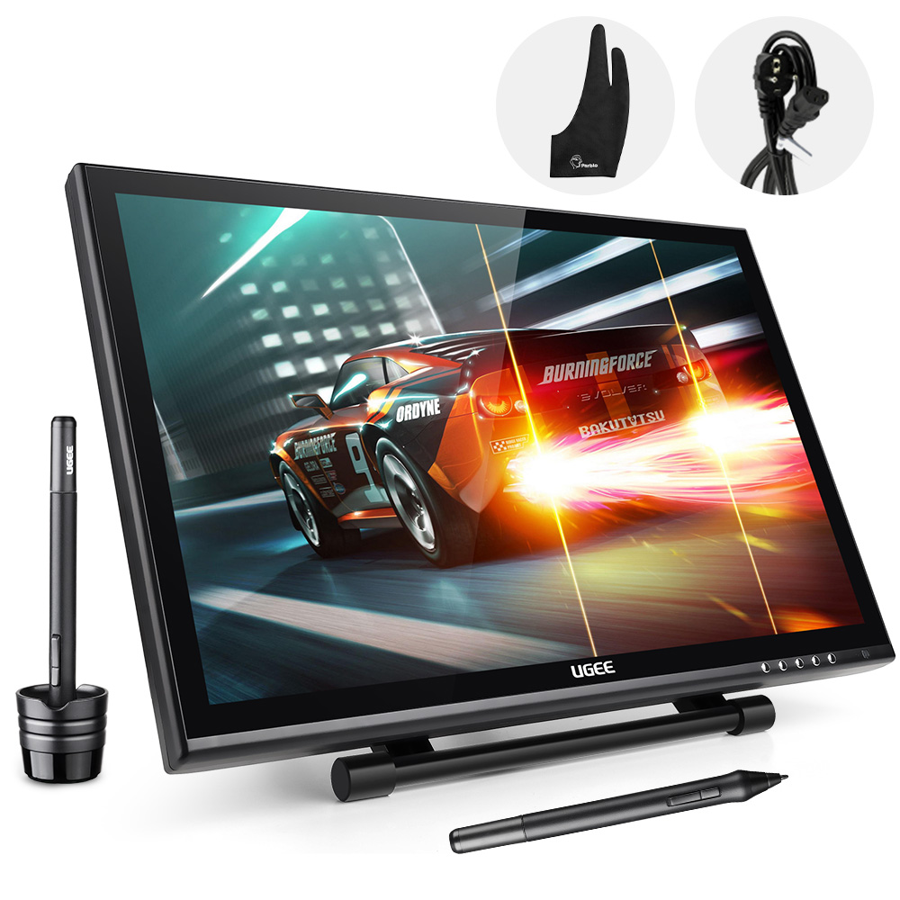 UGEE UG-1910B Professional 19 Inches 5MS LCD Monitor Art Graphic Tablet Drawing Digital Digitalizer Board + Cleaning Kit