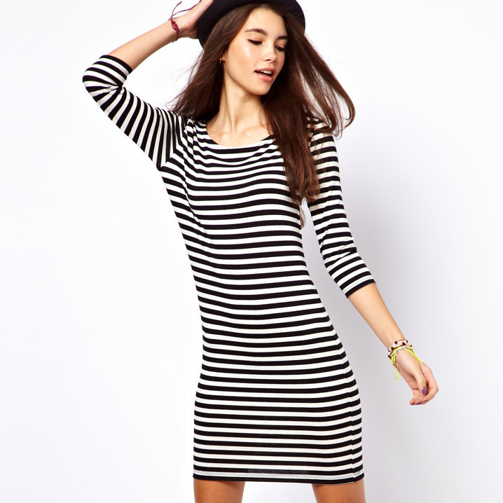 Aliexpress.com : Buy New2014 Summer Women Dress Short Sleeve O ...