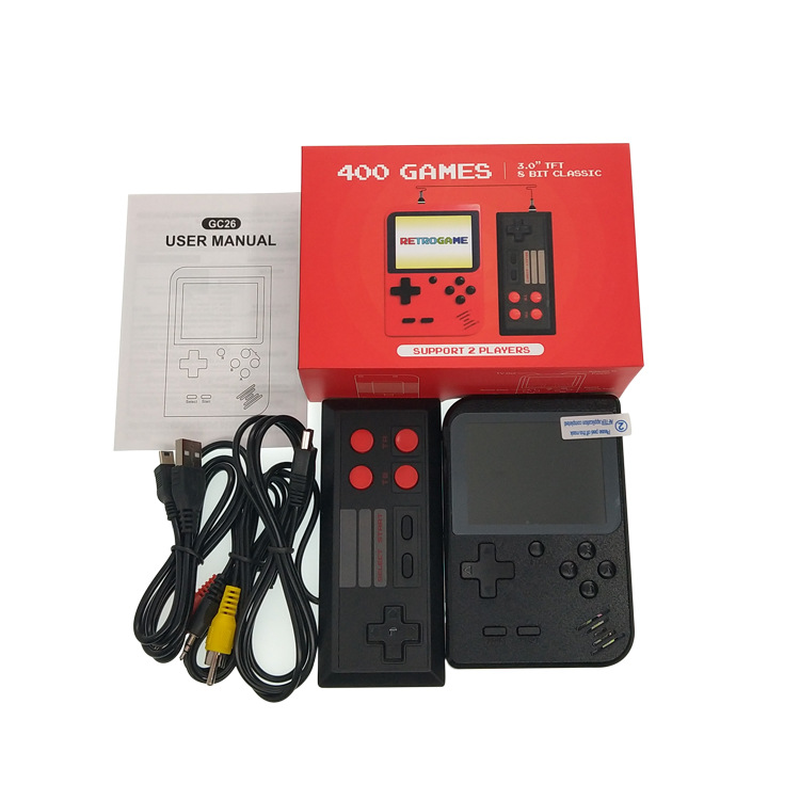 Retro Portable Mini Handheld Game Console 8-Bit 2.8 in Color  Screen Built-in 400 Games Kid Video Handheld Game Player on TVRetro Portable Mini Handheld Game Console 8-Bit 2.8 in Color  Screen Built-in 400 Games Kid Video Handheld Game Player on TV