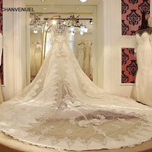 CHANVENUEL LS1059 2016 train wedding dresses