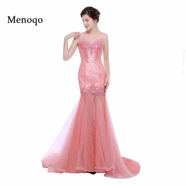 Menoqo Long Formal Evening Dresses 2018 Mermaid with Appliques Prom ...