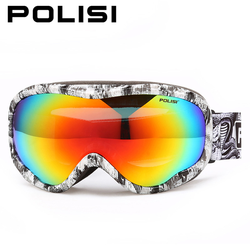 POLISI Men Women Snowboard Ski Goggles Double Layer Anti-Fog Lens Skiing Eyewear Winter Skateboard Snowmobile Polarized Glasses topeak outdoor sports cycling photochromic sun glasses bicycle sunglasses mtb nxt lenses glasses eyewear goggles 3 colors