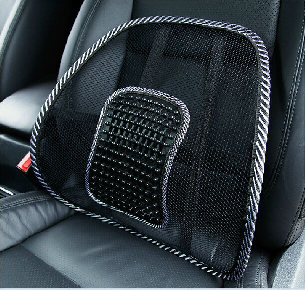 2pcs Car Seat Office Chair Back Cushion Posture Corrector Black Mesh Ventilate Pad Pain Relief Lumbar Mage In Hair Clips Pins From