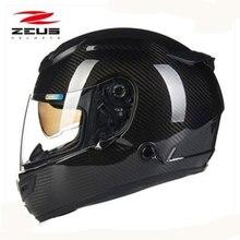 Зевс Arbon волокна мотоциклетный шлем 2 линзы высококлассные анфас мотоциклетный шлем легко застежка мотоцикл шлем в горошек 1200E
