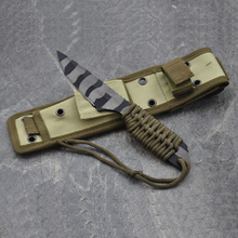 Utility Combat Tactical Knife Camping Survival knife hunting knife with Nylon Sheath Fixed Blade
