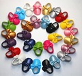 wholesale 12 pairs lot pearized soft sole PU Leather Baby Moccasins shoes child First Walkers fringe toddler colors girls boys