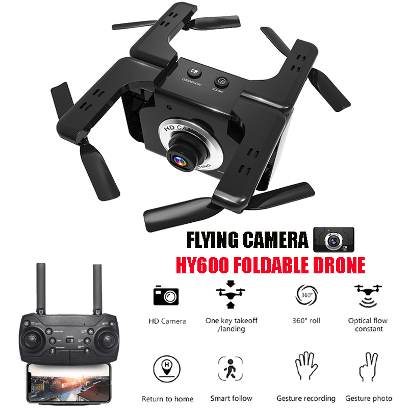 HY600 Mini Drones with Camera HD Juguetes Dron 1080P Gesture Shooting Quadrocopter FPV Quadcopter Optical Flow RC HelicopterHY600 Mini Drones with Camera HD Juguetes Dron 1080P Gesture Shooting Quadrocopter FPV Quadcopter Optical Flow RC Helicopter