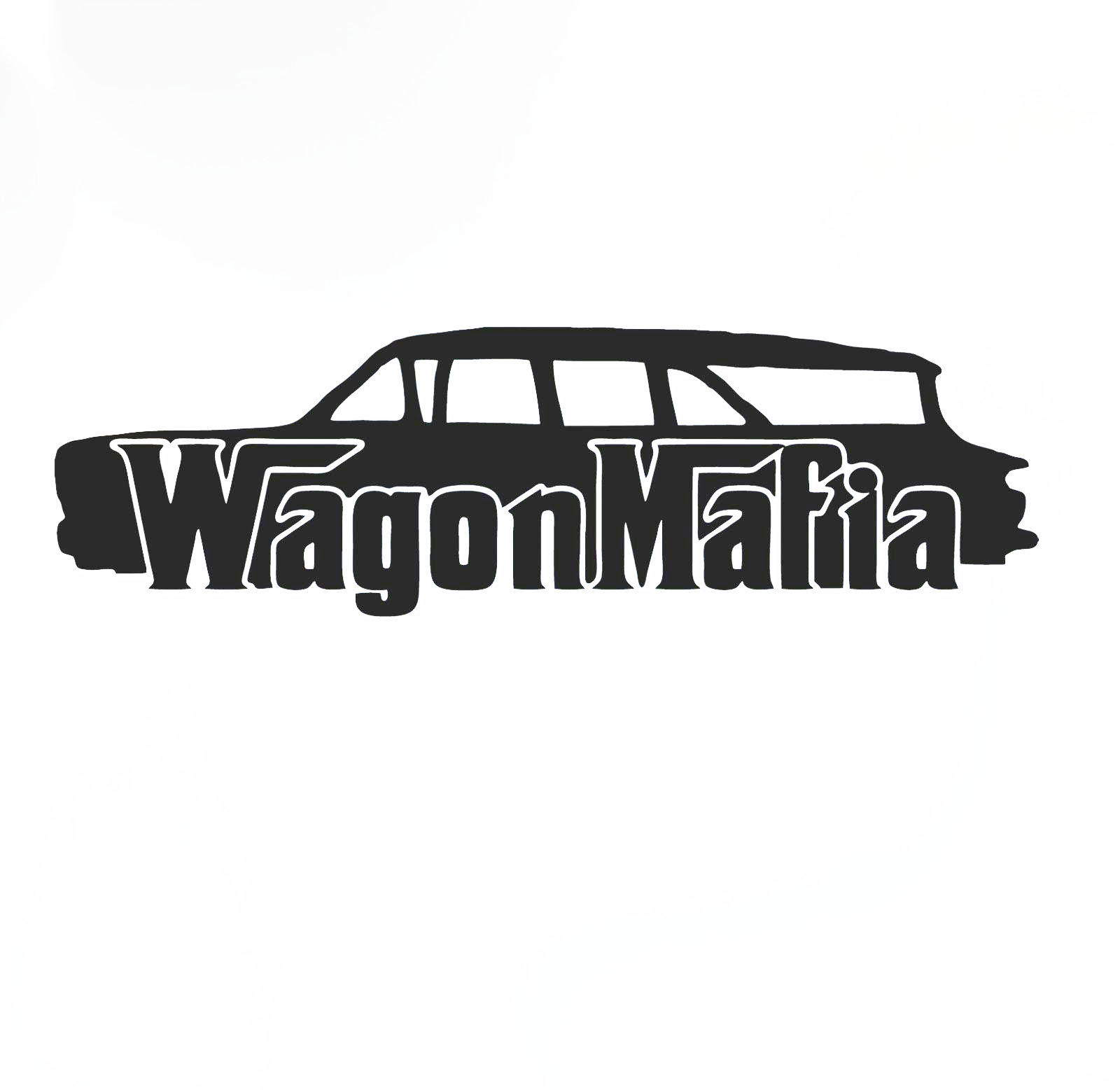 Hotmeini wagon mafia 960 chevy nomad lowered sticker low stance car window decal china