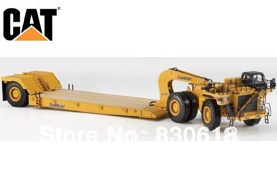 1:50 DieCast Model Caterpillar Cat 784C Tractor w / Towhaul Lowboy Trailer Norscot Automjete ndërtimi 55220