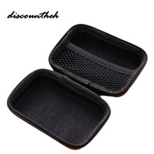 Portable Coin Purses Storage Bag Case For Earphone EVA Headphone Case Container Cable Earbuds Storage Box Pouch Bag Coin Holder