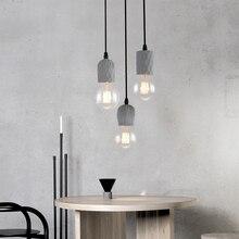 Cement restaurant bar lounge clothing shop coffee studio industrial wind cement chandelier