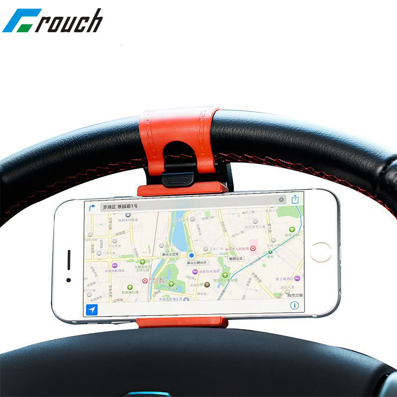 Universal Car Phone Holder Bracelet For Iphone 7 6 5s Steering Wheel Car Stand Mount for Samsung Note Series GPS Smart Phone