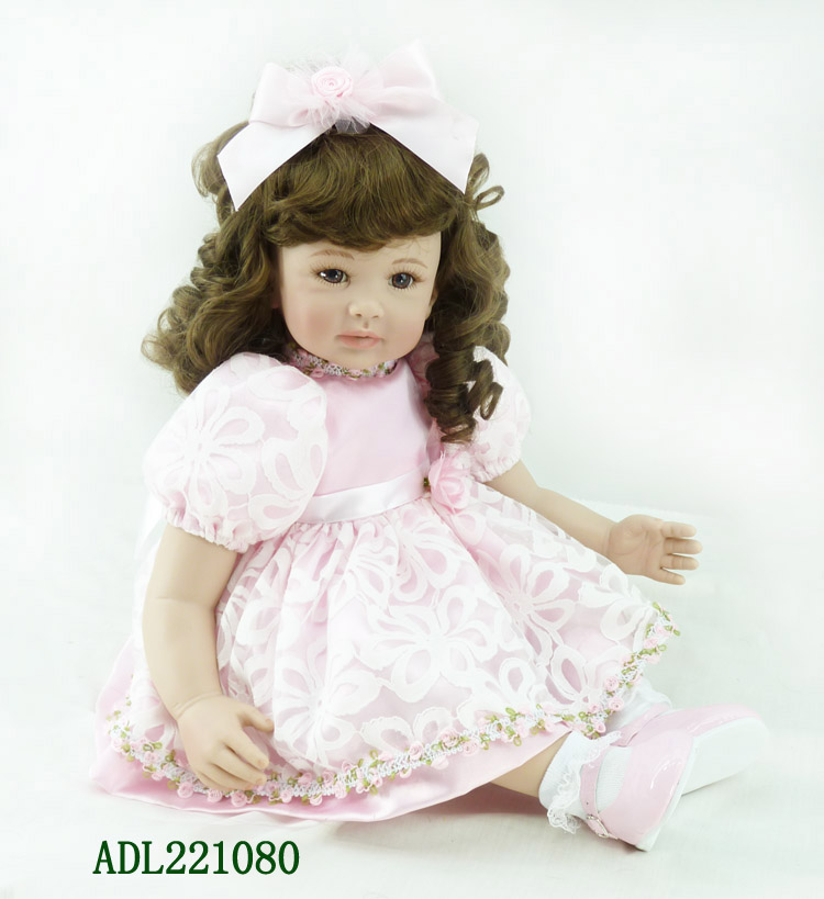 Fashion vinyl silicone reborn baby dolls accompany sleeping lifelike princess toddler doll kid high-end christmas boutique gifts the cute silicone reborn baby dolls accompany sleeping lifelike cute princess toddler doll kid popular christmas new year gifts