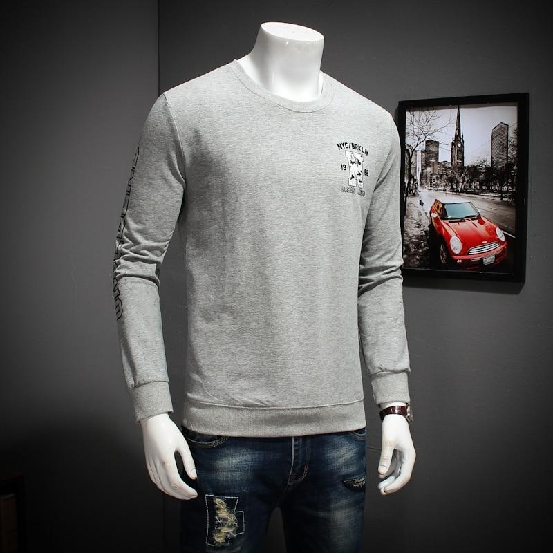 2 8xl Hommes shirts Automne amp; 2018 Manches 3 Nouvelle Cou Printemps Longues T Mode Homme Fitness O 1 Tops 10xl T De Shirt 6xl Casual Camisetas SEzwdqd