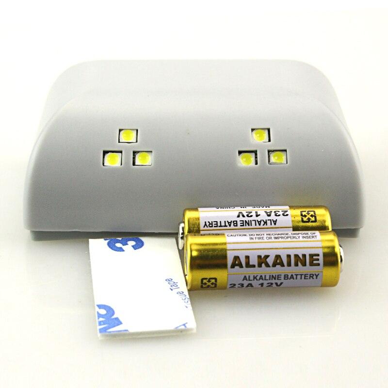 wireless pir sensor de movimiento por infrarrojos batera operado a v led para
