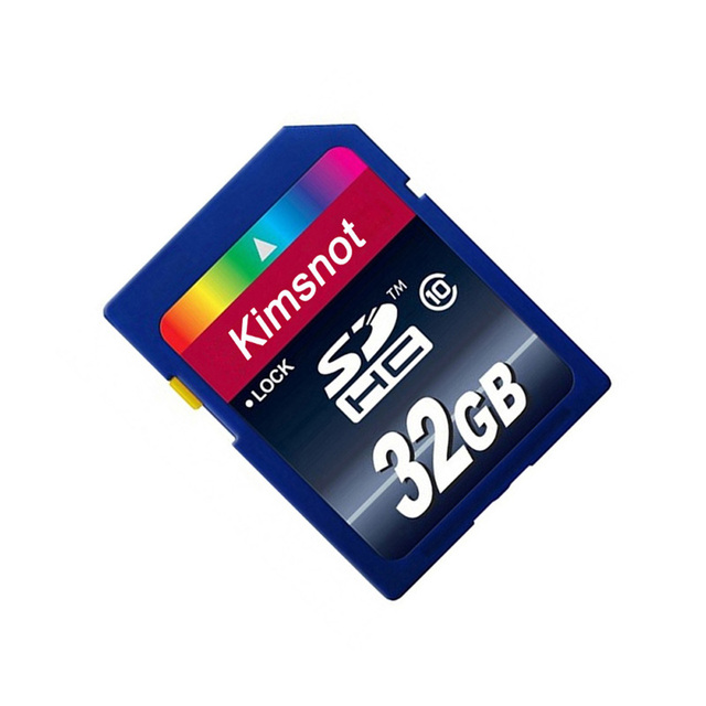 Kimsnot Real Capacity 64GB SDXC Card 32GB 16GB 8GB SDHC SD Card Memory Card High Speed Class 10 300x C10 For Camera Memory Cards