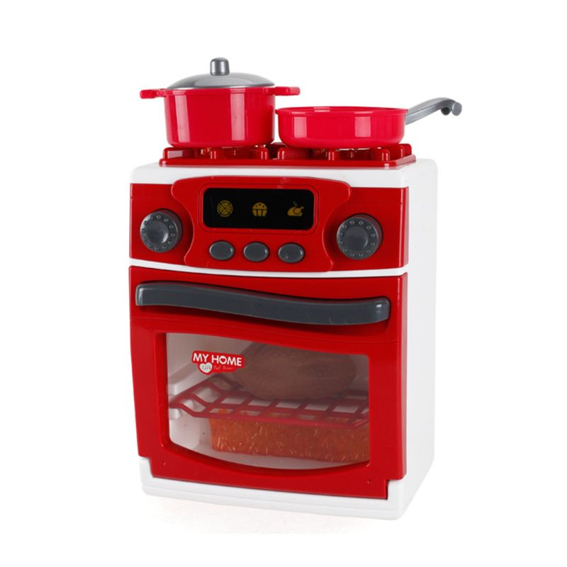 Simulation Pretend Play Lighting Music Stove Kitchen Appliance Children Home Housework Funny Toys Gifts