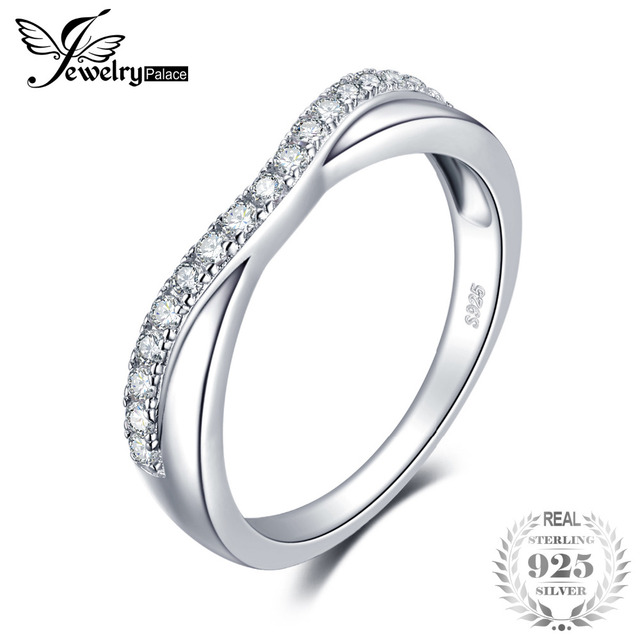 JewelryPalace Classic 0.2ct Cubic Zirconia Band Wedding Anniversary Ring For Wom