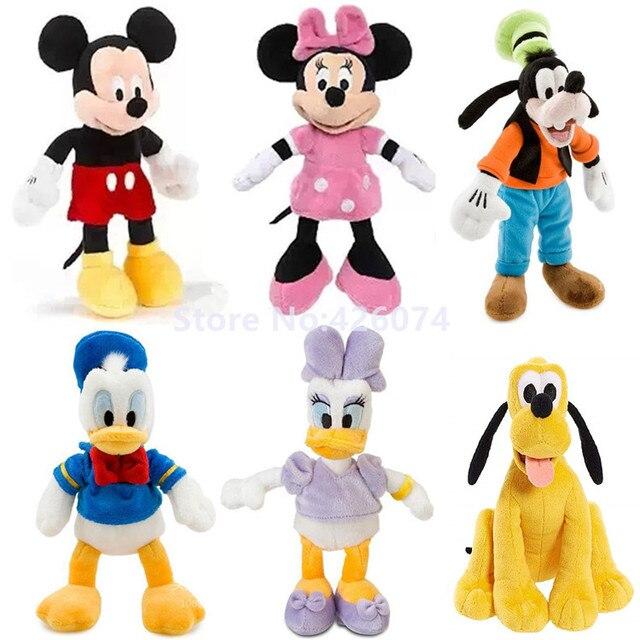 Nuevo Mickey Minnie Donald pato Daisy Goofy Pluto perro felpa para niñas niños Mini 20 CM niños animales de peluche Juguetes regalos para los niños