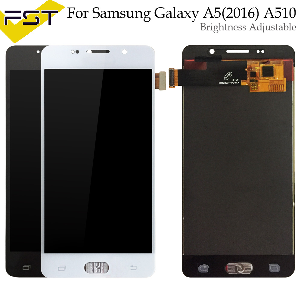 Adjust Brightness For <font><b>Samsung</b></font> Galaxy A5 2016 A510 <font><b>A510F</b></font> A510M <font><b>A510F</b></font> <font><b>LCD</b></font> Display + Touch Screen Digitizer Assembly+Tools image
