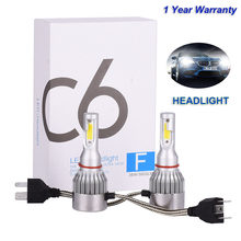 2Pcs Infitary H7 LED H4 Auto Car Headlight 9005 9006 H3 H13 H8 880 H27 9004 9007 H11 LED H1 C6 72W 7600LM 6000K Automobile Bulb(China)
