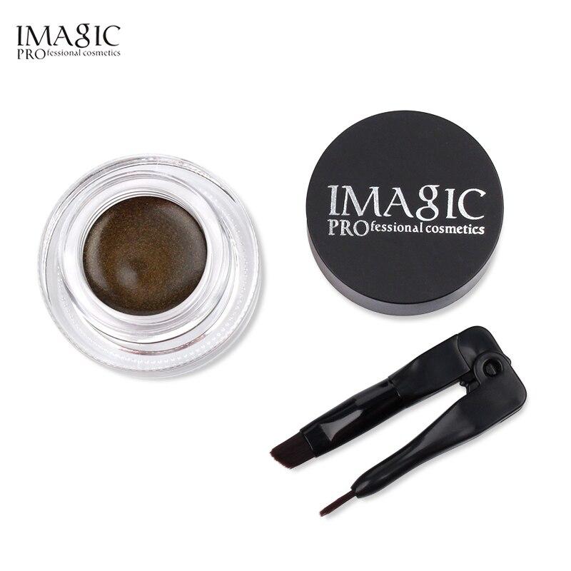 IMAGIC гель подводка для глаз крем не цветущий макияж палитра матовая Водонепроницаемая Стойкая подводка для глаз гелевый крем с кисточкой
