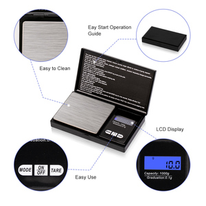Image 3 - ميزان مجوهرات 0.01g/0.1g عالي الدقة نطاق 100g 1000g الميزان المصغر ميزان الجيب الرقمي LCD وزن الميزان لأدوية المطبخ