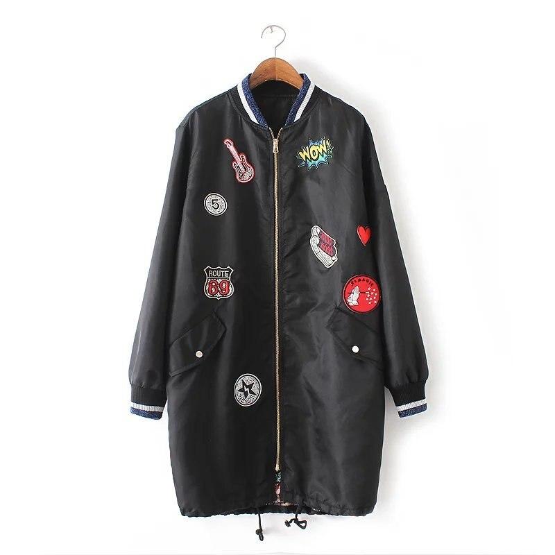 New Korean Winter Jacket Women Cotton Outerwear Fashion Patch Designs 2016 Girls Padded Slim Plus Size