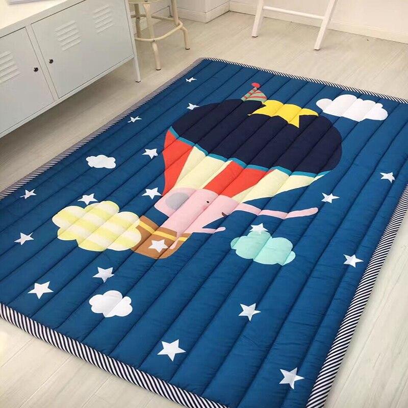 Infant Shining Baby Play Mat Children Folding Game Carpet Kids Crawling Mats Anti-skid Tatami Rugs Cotton Blanket For Children цена 2017