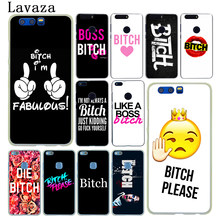 Lavaza Bitch mode on pink Hard Phone Case for Huawei Y6 Prime Y5 II 2018 Y7 2017 Honor play 10 9i 8X 8 9 Lite 7C 7X 7A Pro Cover(China)