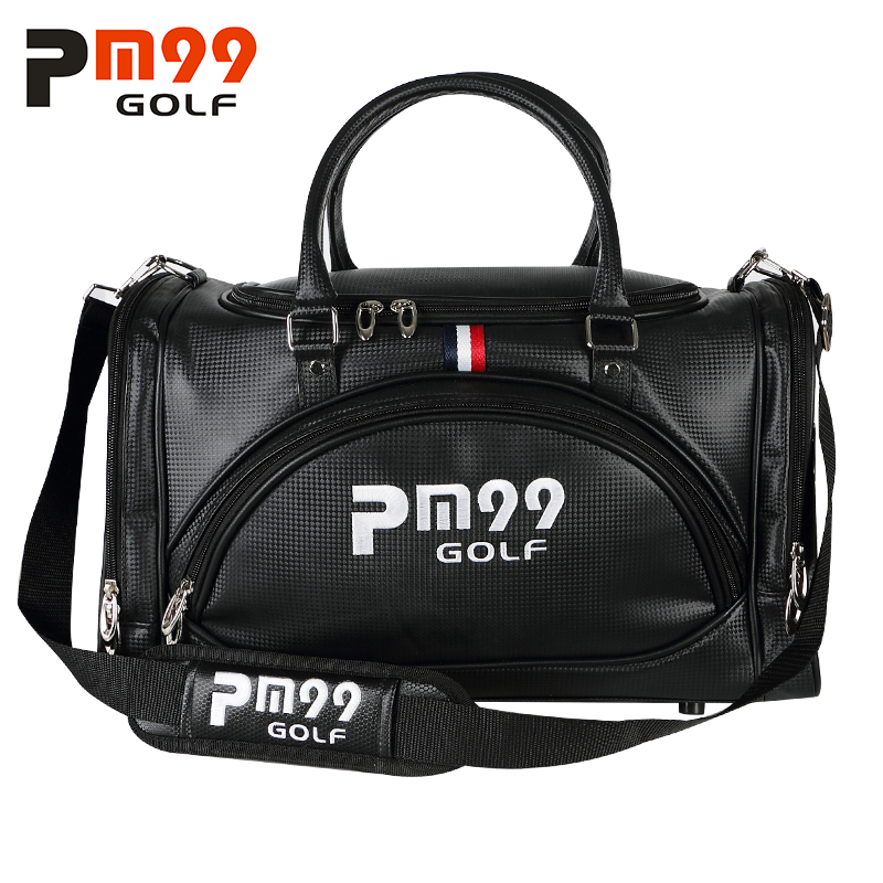 Golf Clothing Bag Travel Golf Bag PU Leather High Capacity  Double Layer Golf Shoes Bag Double Shoulder pgm golf clothing bag waterproof genuine leather top quality golf shoes bag high capacity double layer sports bag handbag