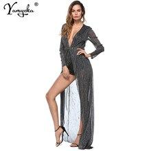 Sexy perspective sequins Summer dress women bodycon vintage Long Maxi dress elegant Night club Dresses clothes vestidos mujer HL цена